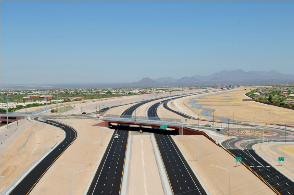 Red Mountain Freeway, Power Road to University Drive