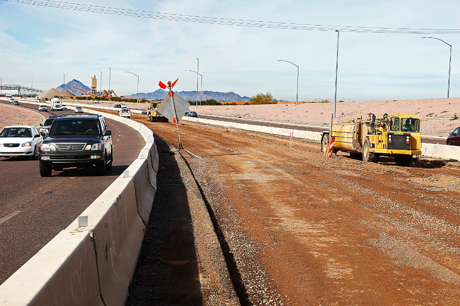 SR 202L (Red Mountain Freeway), SR 101L (Pima Freeway) to Broadway Road