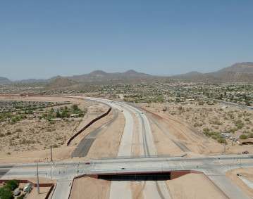 Red Mountain Freeway Road, University Drive to Southern Avenue